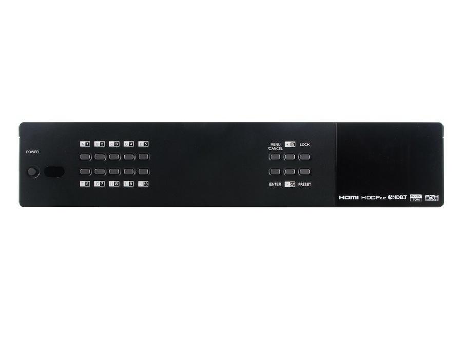 ANI-1082UHD 10x10 HDMI/HDBaseT 4K/60Hz Matrix Routing Switcher with Audio Matrixing and LAN Server by A-NeuVideo