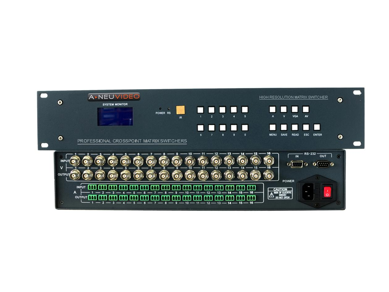 ANI-V804 8x4 Composite MAtrix Switcher by A-NeuVideo