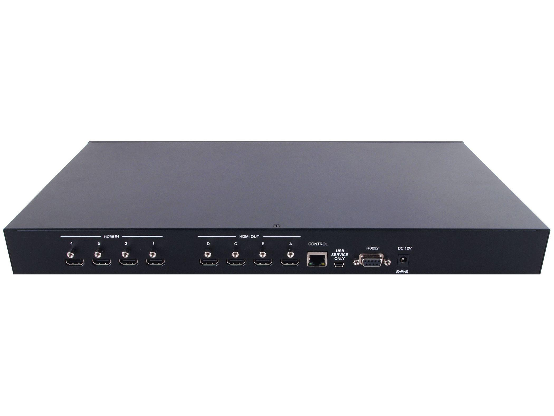 ANI-QUAD 4x4 HDMI Video Wall Processor and Matrix Switch by A-NeuVideo