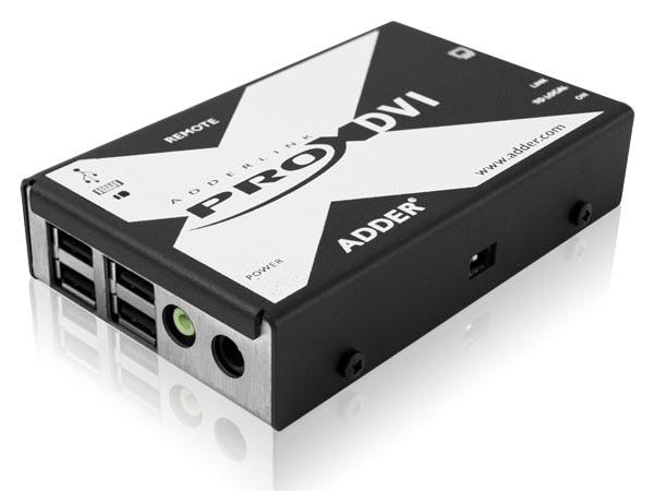 X-DVIPRO-US DVI and 4-port USB Extender over two CATx cables by Adder