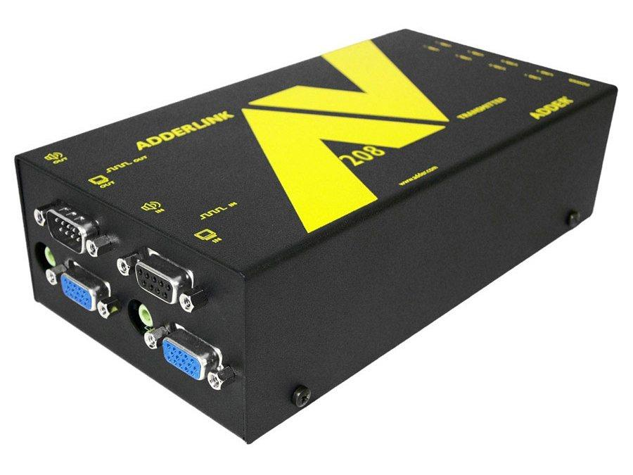 ALAV208T 1x8 VGA Extender Transmitter with Serial over CAT5 up to 1000ft by Adder