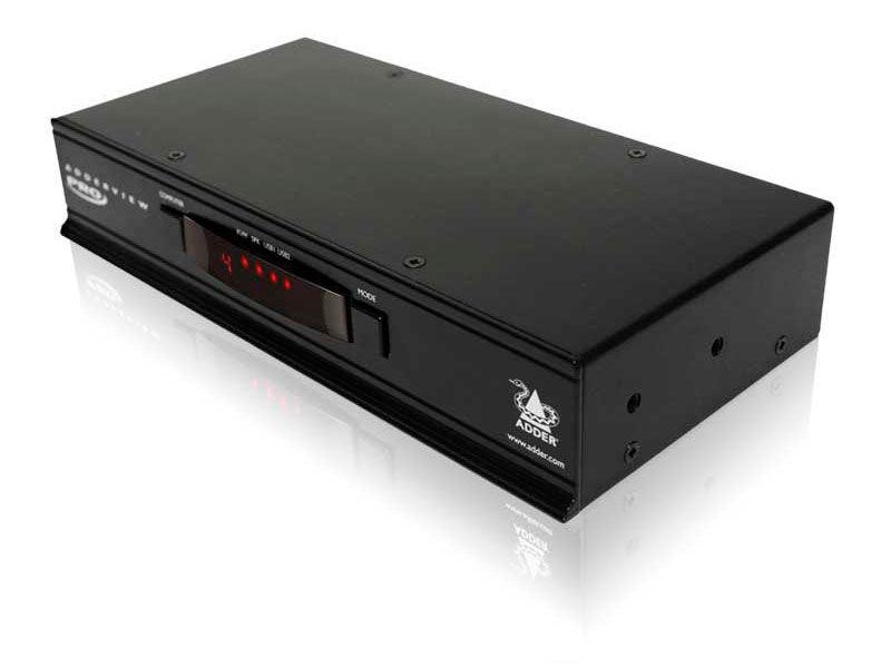 AV4PRO-DVI-US PRO 4-Port USB DVI KVM Switch by Adder