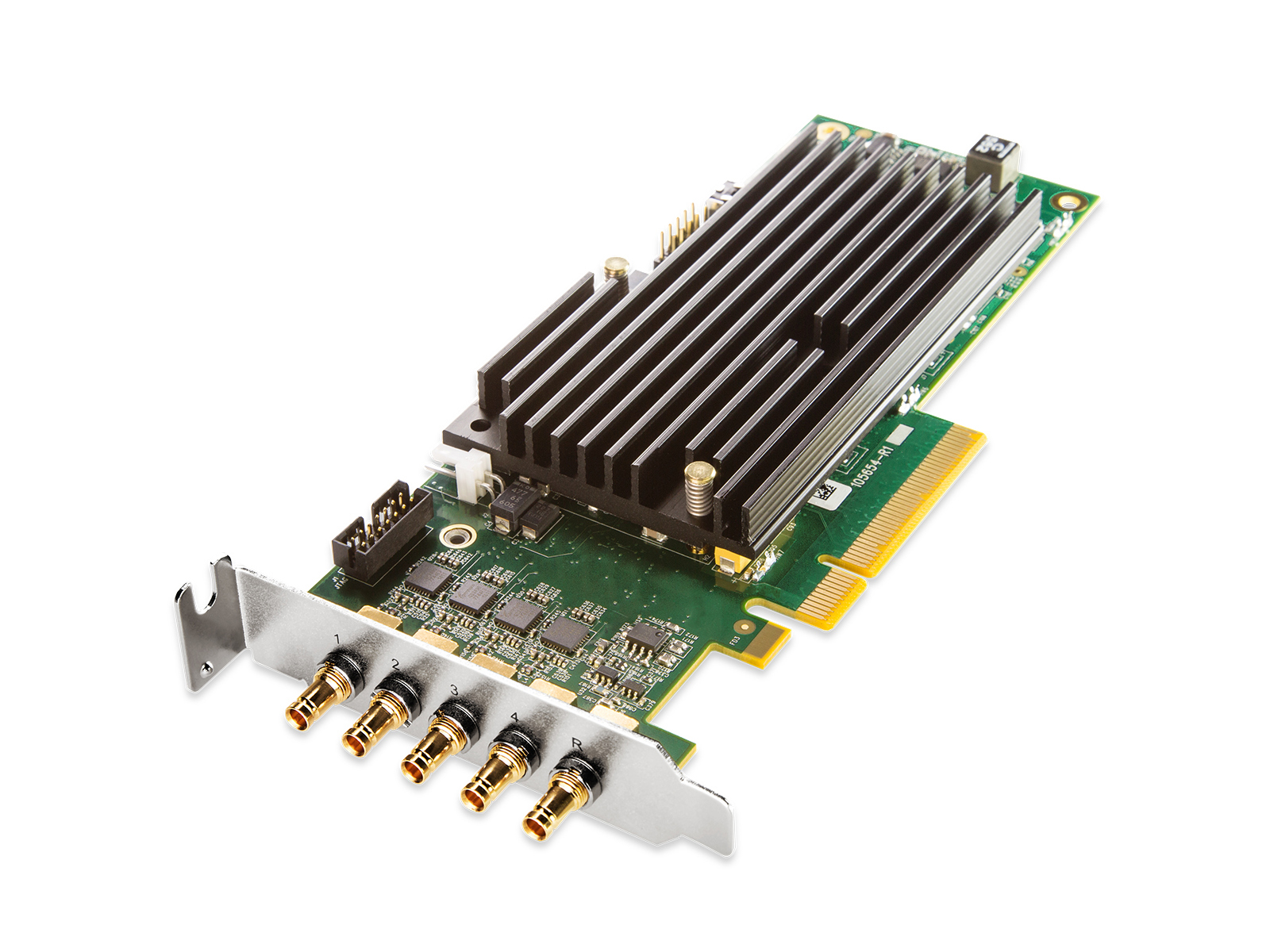 CRV44-S-NCF Corvid 44 with low profile PCIe bracket and passive heat sink/no cables by AJA