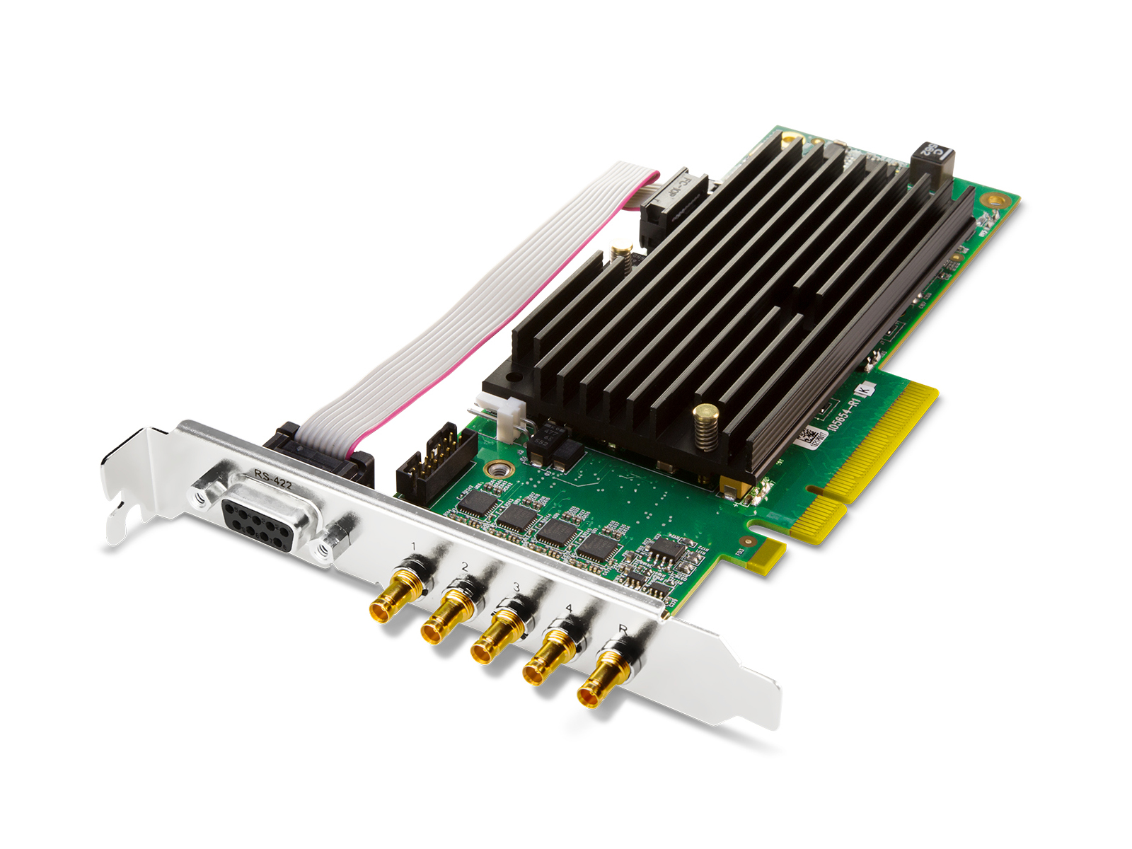CRV44-T-NCF Corvid 44 with standard profile PCIe bracket and passive heat sink/no cables by AJA