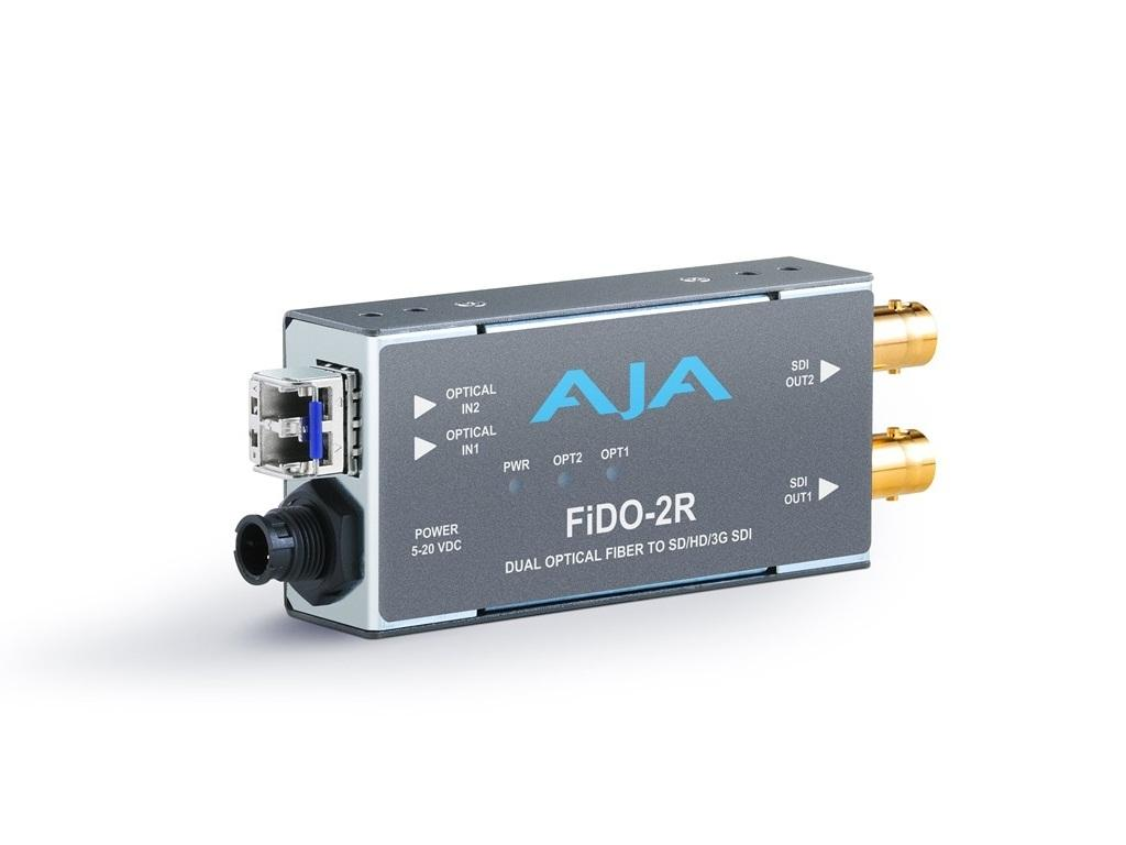 FiDO-2R Dual channel LC Fiber to SDI Extender (Receiver) up to 10km by AJA