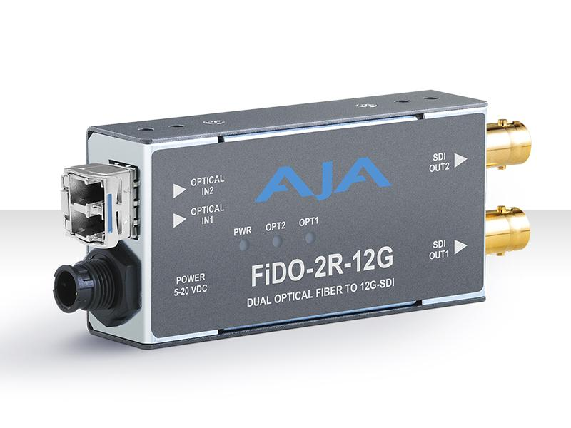 FiDO-2R-12G 2-Channel 12G-SDI to Single-Mode LC Fiber Extender (Receiver) by AJA