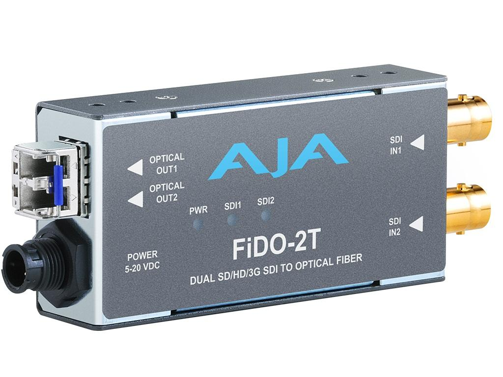FiDO-2T Dual channel SDI to LC Fiber Extender (Transmitter) up to 10km by AJA