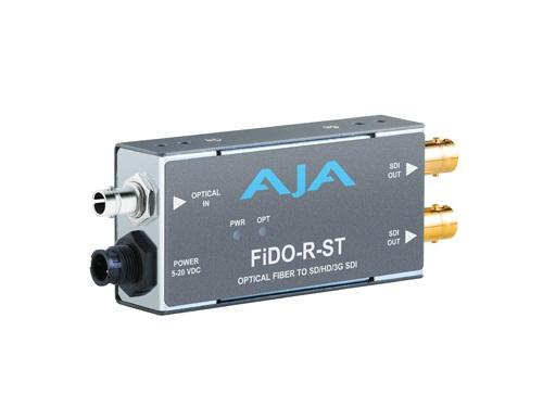 FiDO-R-ST Single channel ST Fiber to SDI Converter/Extender (Receiver) dual SDI outputs to 10km by AJA