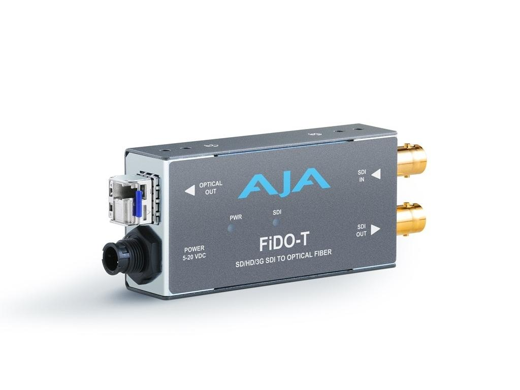 FiDO-T Single channel SDI to LC Fiber Extender (Transmitter) looping SDI output to 10km by AJA