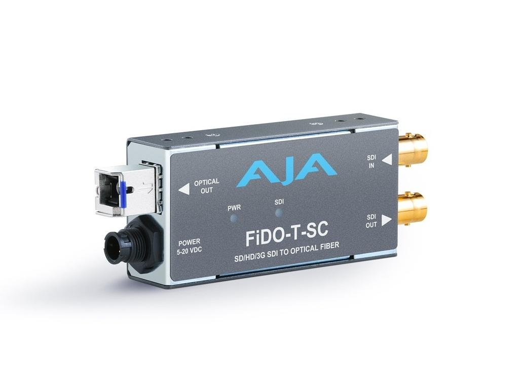 FiDO-T-SC Single channel SDI to SC Fiber Converter/Extender (Transmitter) SDI loopout up to 10km by AJA