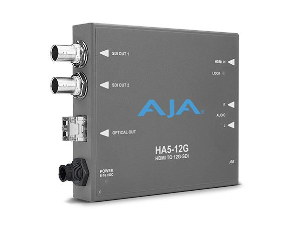 HA5-12G-T HDMI 2.0 to 12G-SDI Conversion with Single Fiber Transmitter by AJA