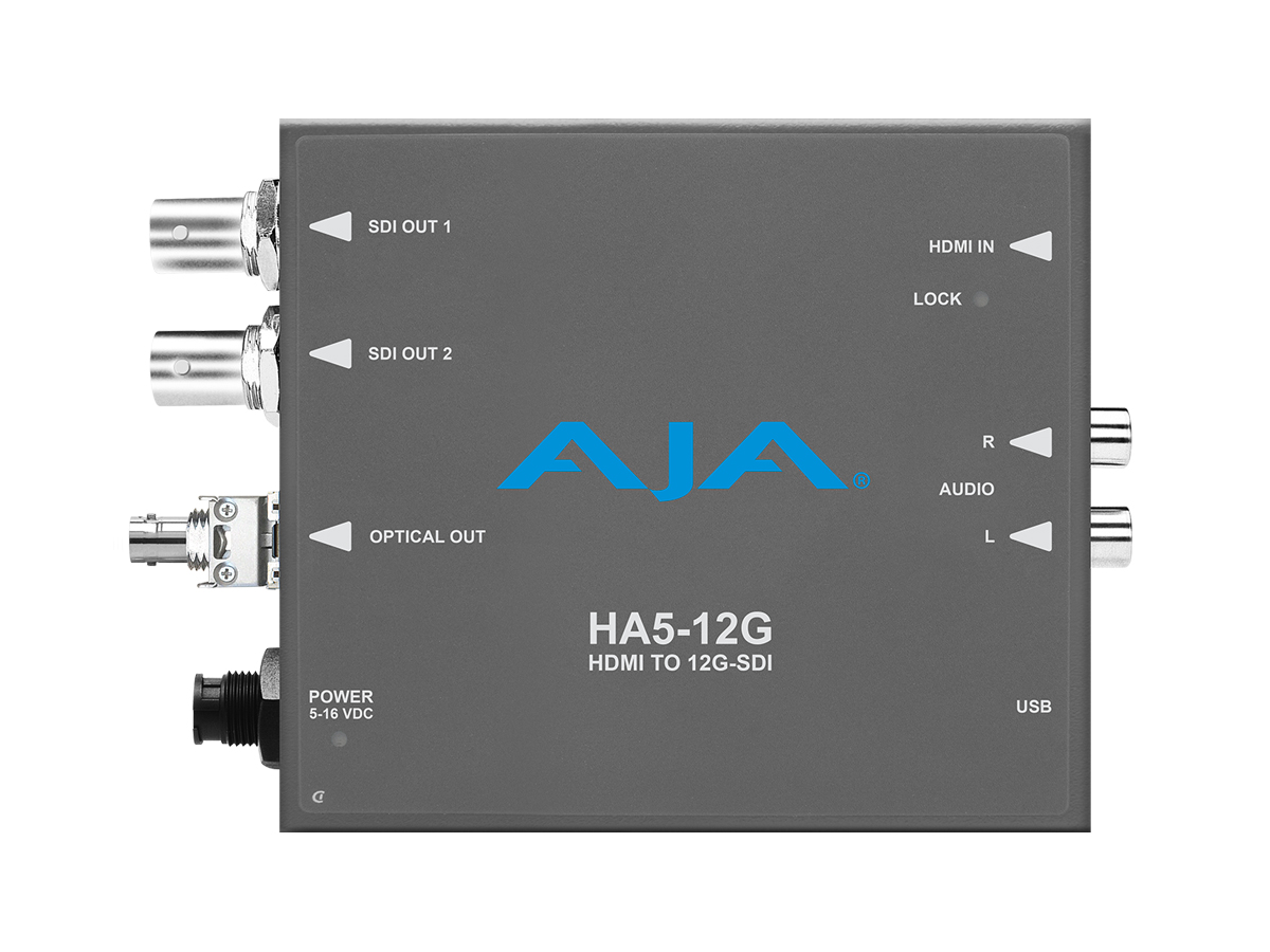 HA5-12G-T-ST HDMI 2.0 to 12G-SDI Conversion with ST Fiber Transmitter by AJA