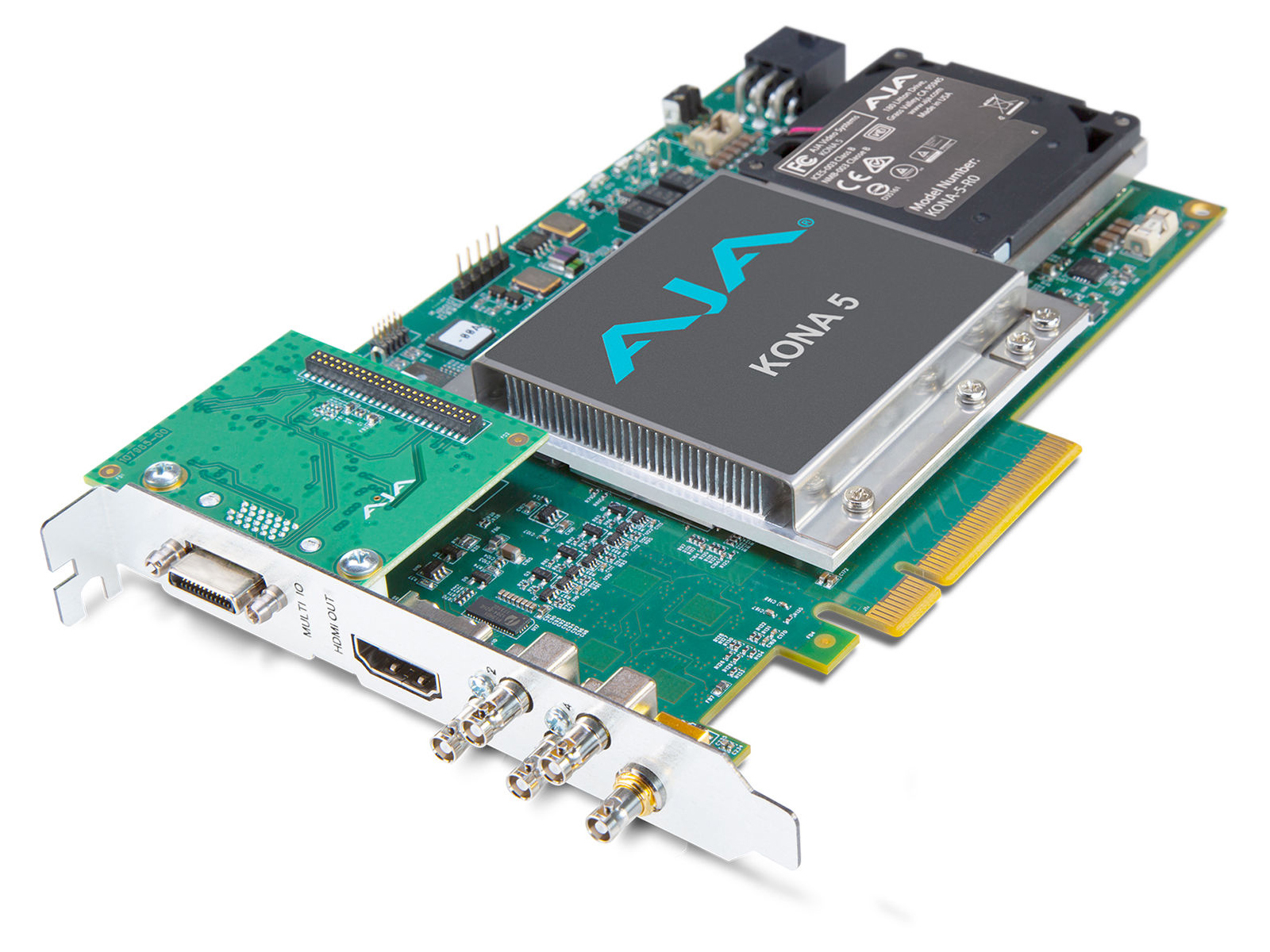 KONA-5-R0-S00 12G-SDI I/O 10-bit PCIe Card HDMI 2.0 output with HFR support (ATX power with no cable) by AJA