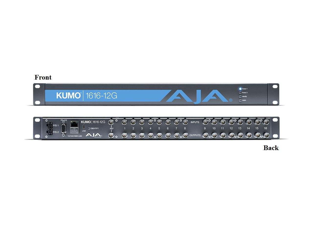 KUMO 1616-12G Compact 16x16 12G-SDI Router by AJA