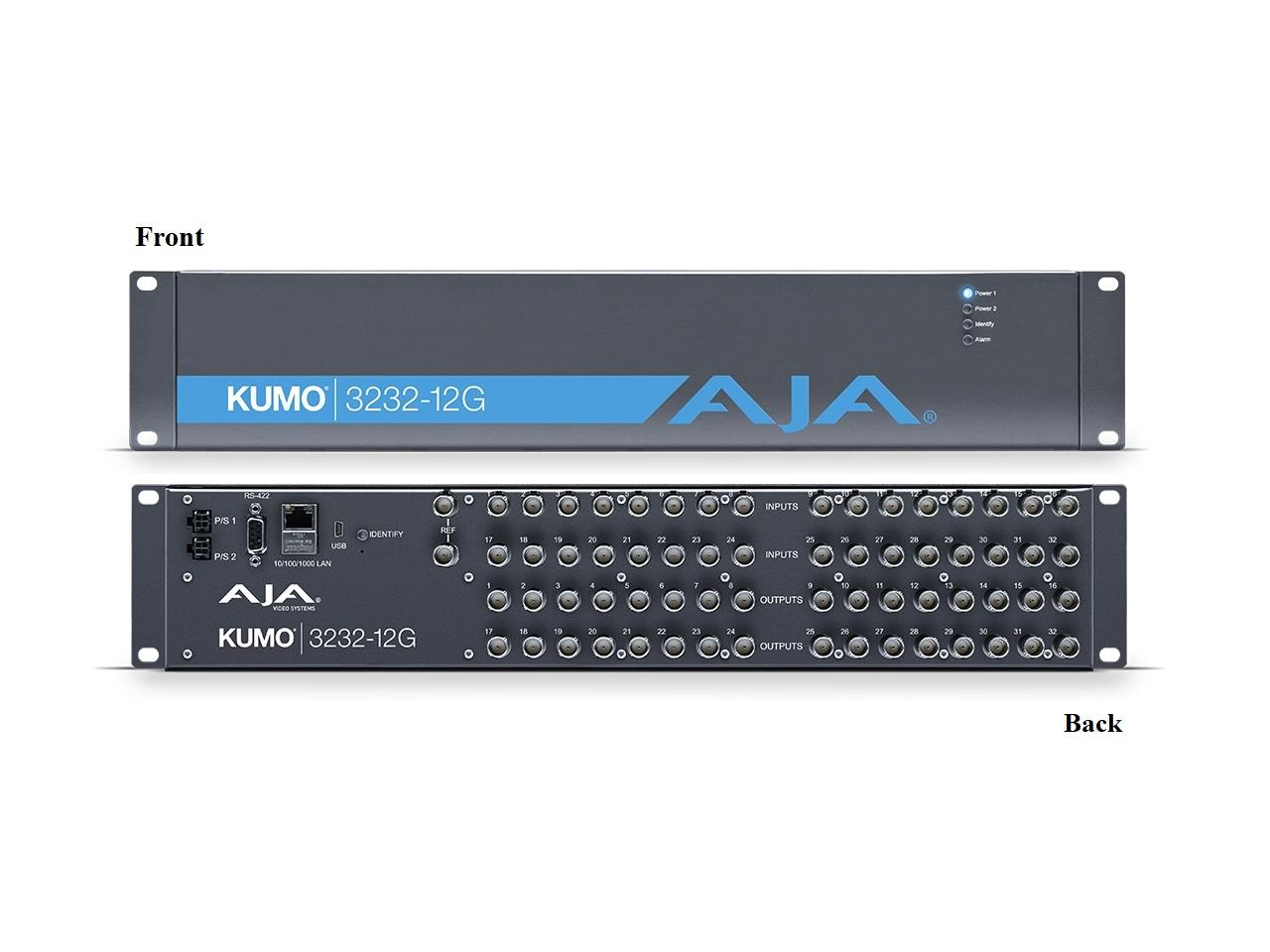 KUMO 3232-12G Compact 32x32 12G-SDI Router by AJA