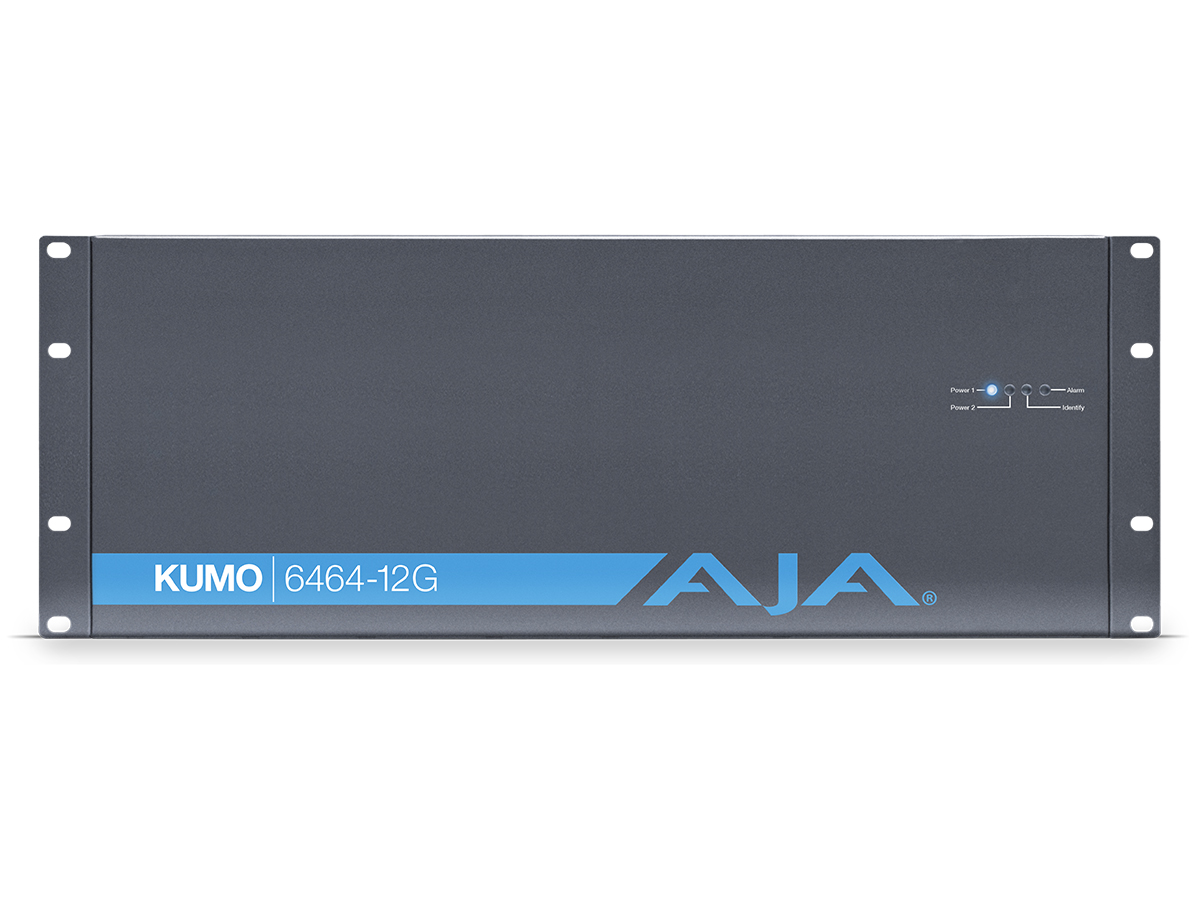 KUMO 6464-12G 64x64 Compact 4RU 12G-SDI/6G-SDI/3G-SDI/1.5G-SDI Router with 1 Power Supply by AJA