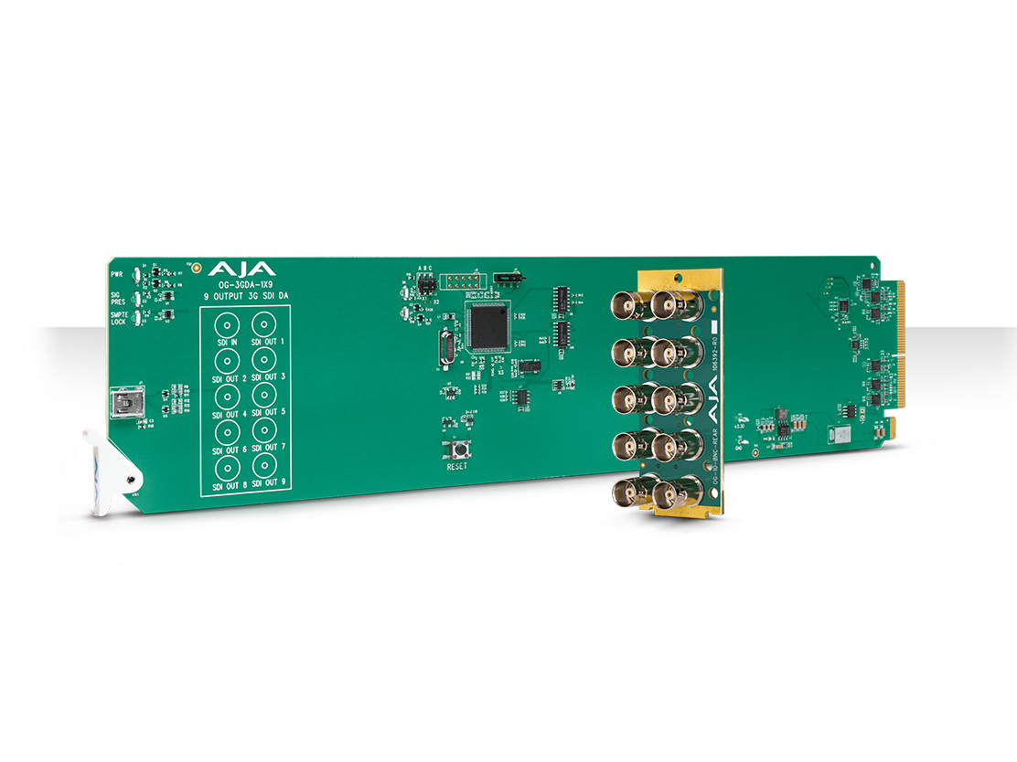 OG-3GDA-1X9 openGear 1x9 3G-SDI Reclocking Distribution Amplifier with DashBoard Support by AJA
