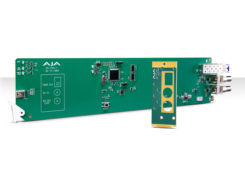 OG-FIDO-T openGear 1-Channel 3G-SDI to Single Mode LC Fiber Extender (Transmitter) with DashBoard Support by AJA