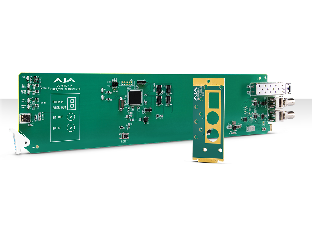 OG-FIDO-TR-MM openGear 1-Channel 3G-SDI/LC Multi-Mode LC Fiber Transceiver with DashBoard Support by AJA