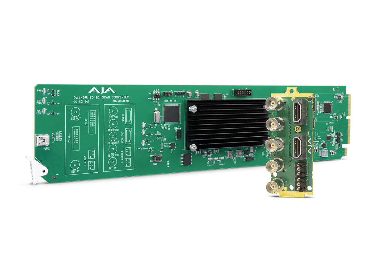 OG-ROI-HDMI openGear HDMI to SDI Scan Converter with Region of Interest Scaling/DashBoard Support by AJA