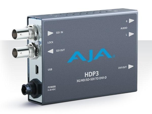 HDP3 3G-SDI to DVI-D and Audio Converter by AJA