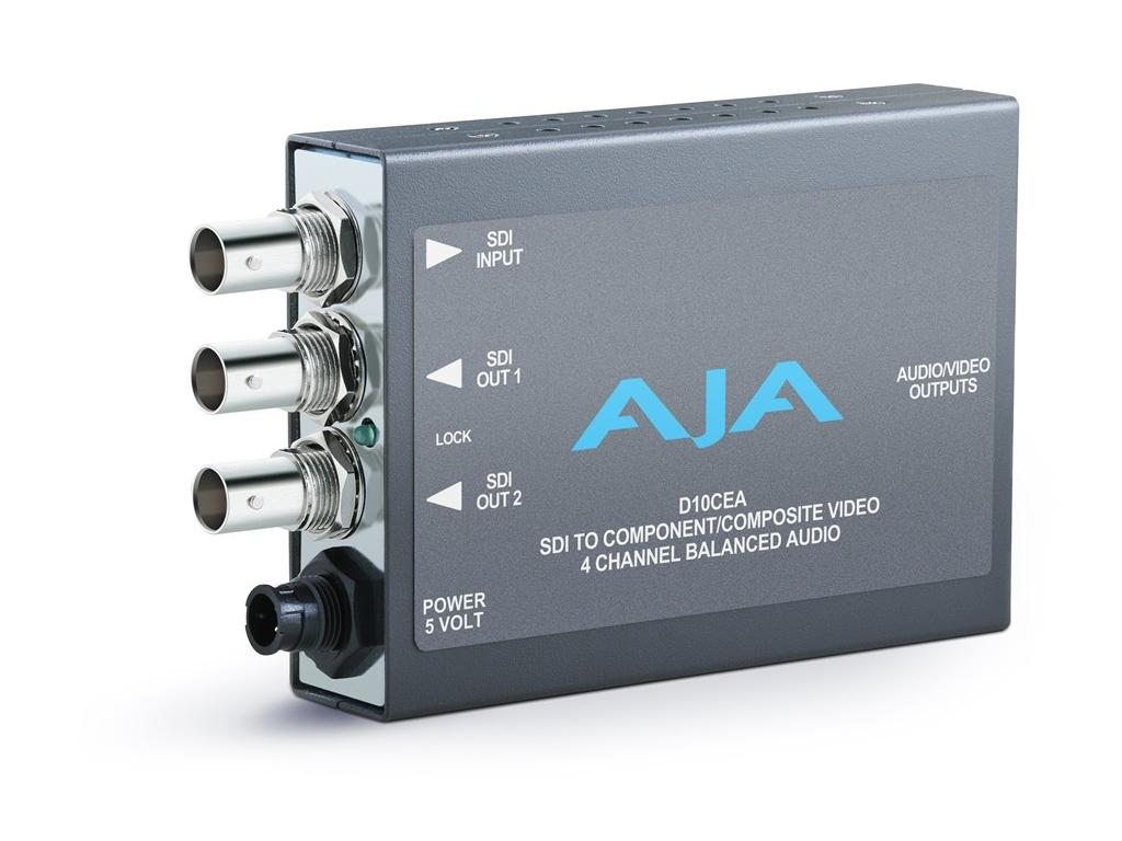 D10CEA SDI to Analog Audio/Video Converter/ SDI with Embedded Audio Input by AJA