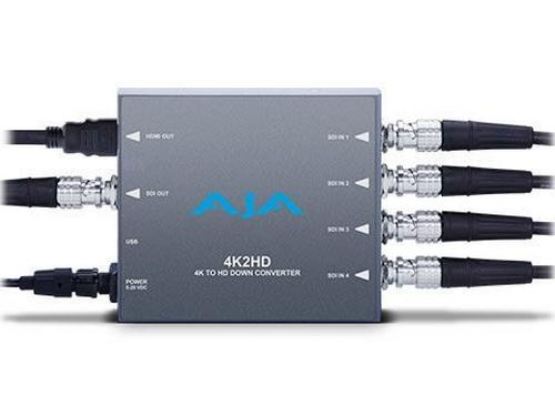 4K2HD 4K/UHD to HD-SDI and HDMI Down-converter by AJA