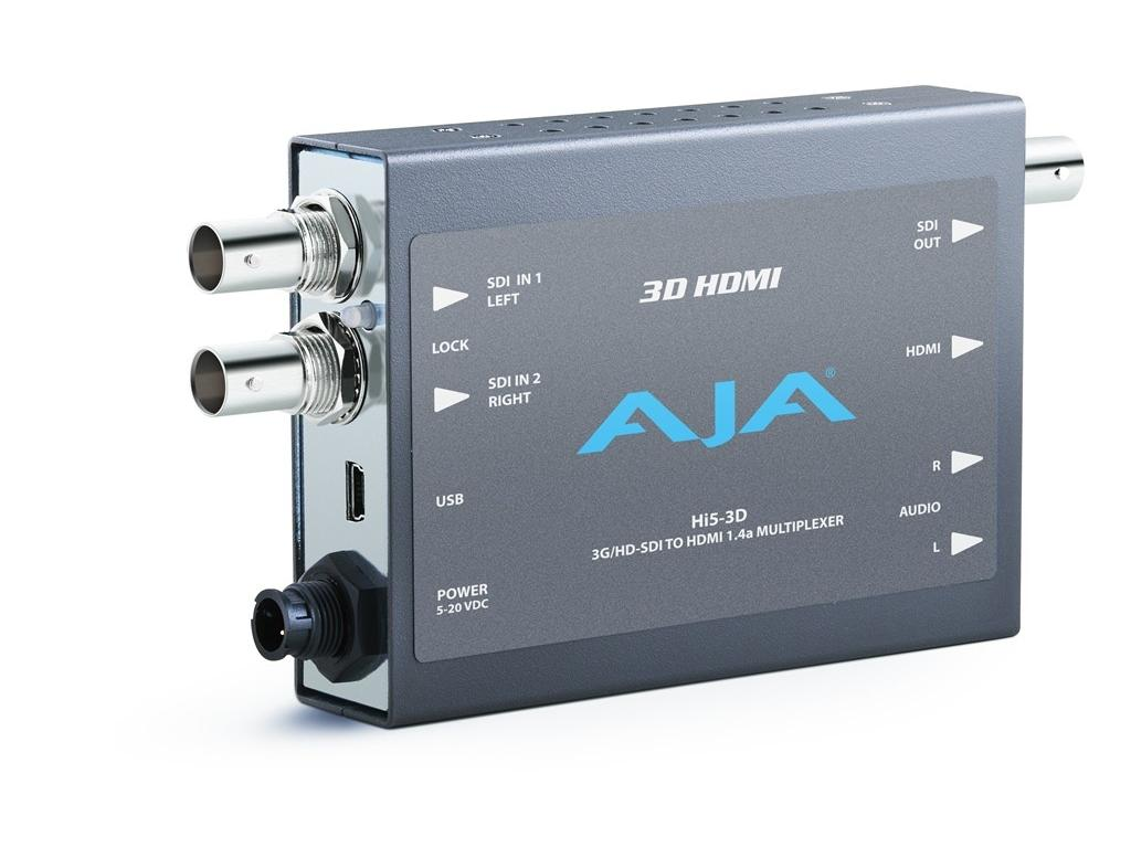 Hi5-3D SD or HD-SDI Multiplexer to HDMI Converter (SD/HD-SDI Loopout) by AJA