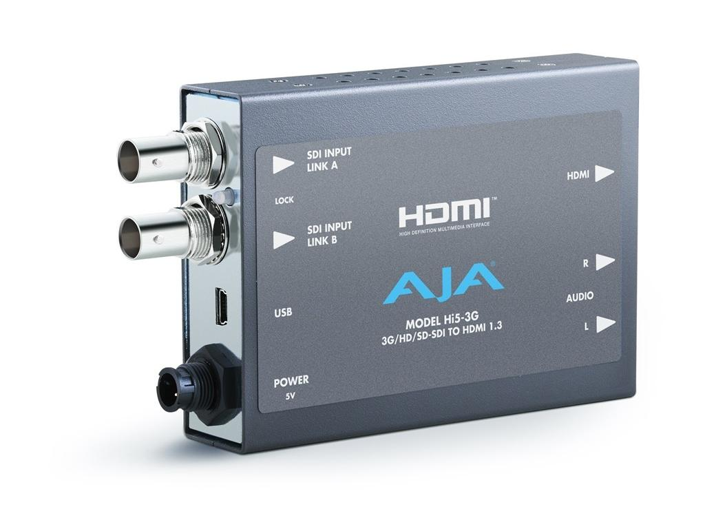 HI5-3G 3G/Dual Link/HD-SD-SDI to HDMI Video and Audio Converter by AJA
