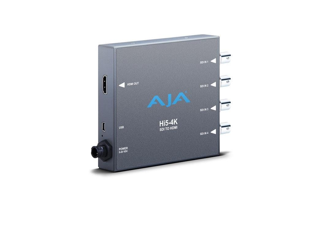 Hi5-4K 4K/HD-SDI to HDMI Mini-Converter (8-channel SDI / HDMI output) by AJA