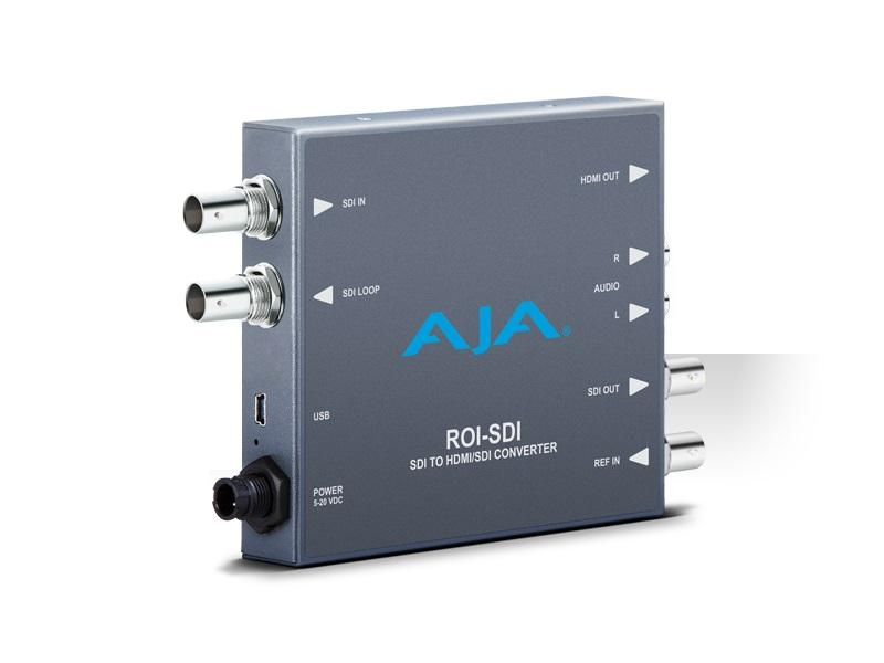 ROI-SDI 3G-SDI to HDMI/3G-SDI Scan Converter w Region of Interest Scaling by AJA
