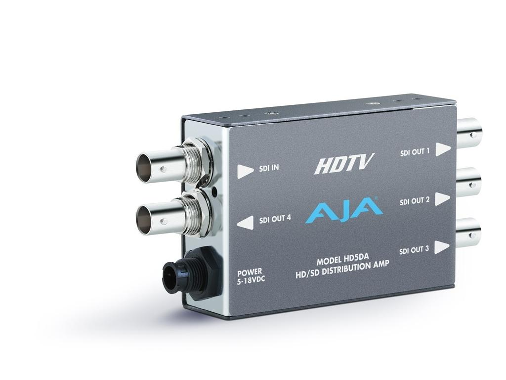 HD5DA 1x4 HD-SDI/SDI Distribution Amplifier/Repeater(Auto Equalizer to 100m) by AJA