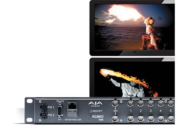 KUMO 1616 16x16 Compact 3G-SDI/HD-SDI/SDI Router by AJA