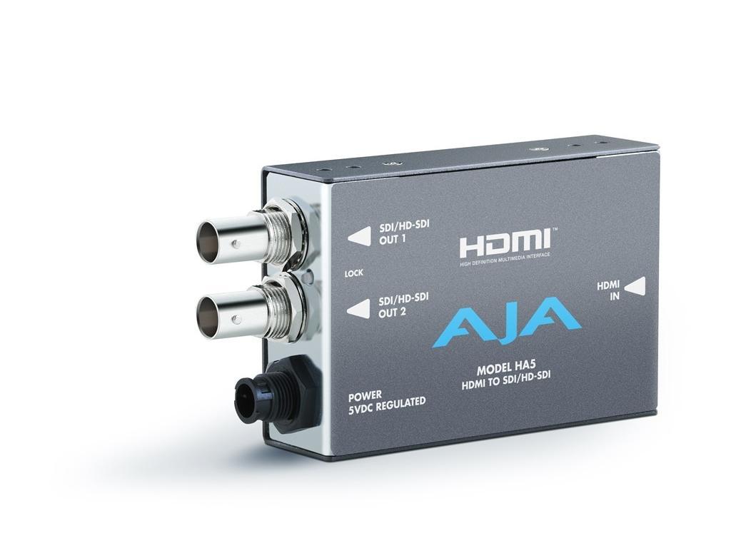 HA5 HDMI to SD/HD-SDI Converter (HDMI audio into  SD/HD-SDI output) by AJA
