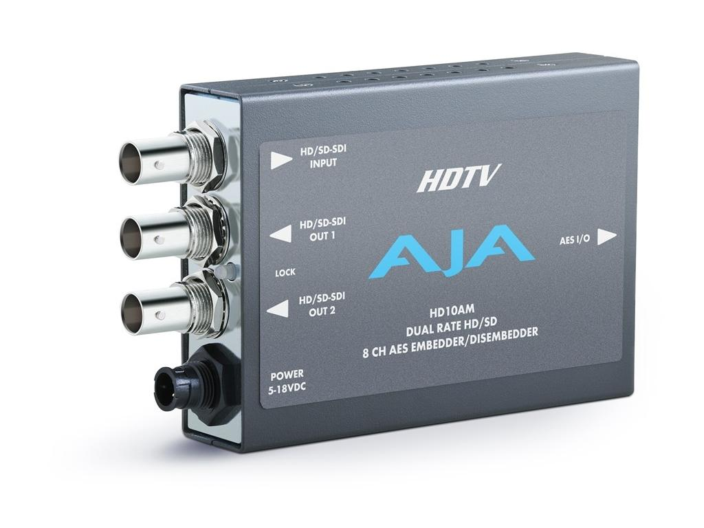 HD10AM 8 Channel AES Dual Rate HD-SDI/SDI Embedder/Disembedder by AJA