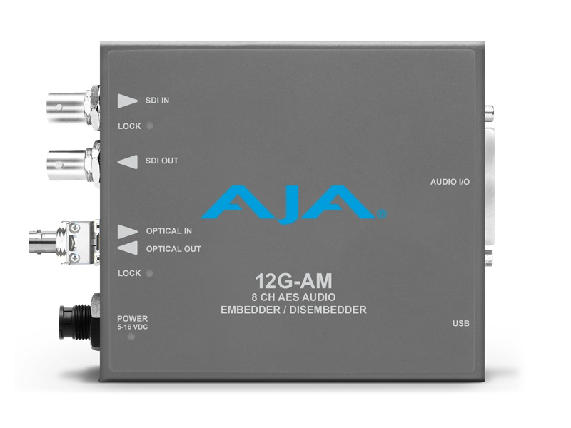 12G-AM-R-ST 12G-SDI 8-Channel AES Embedder/Disembedder with ST Fiber Rx SFP by AJA