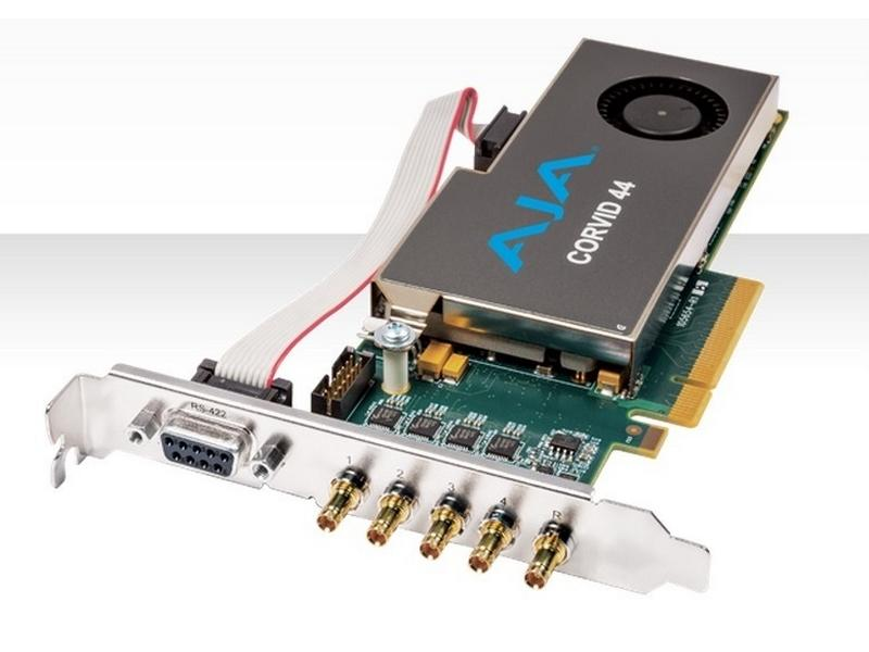 Corvid 44-S Low-profile 8-lane PCIe Card with 4 x SDI configurable I/O and cables by AJA