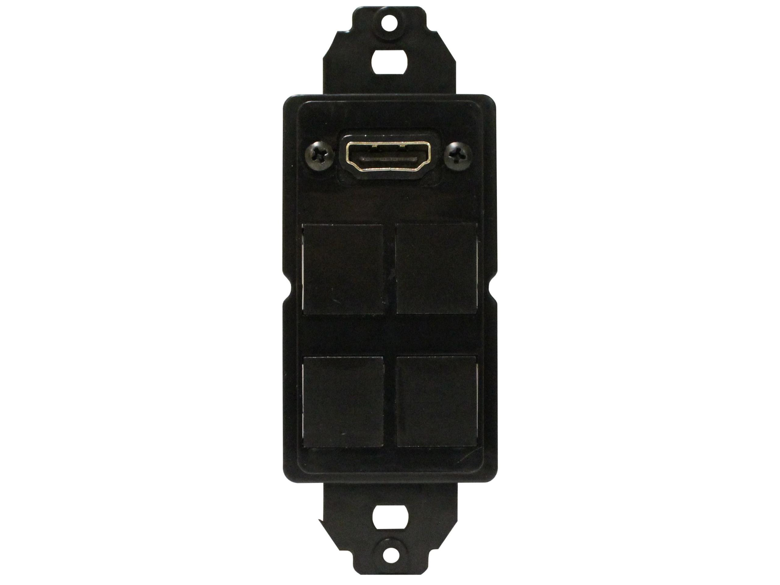 CNK-IP-217 Panel Mount Hdmi W 4-Port Snap In Plate by Altinex