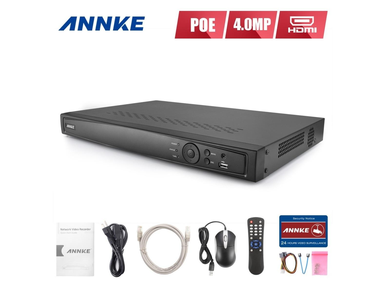 N48PI 8CH HD 6MP POE NVR Advanced H.264 Video Compression by Annke