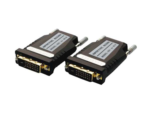DVI-xx-SC-III Single Link DVI-D Fiber Optic Extender (Transmitter/Receiver) Kit by Apantac
