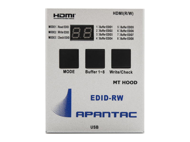 EDID-RW Compact EDID Read/Write Tool with HDMI and VGA interface by Apantac