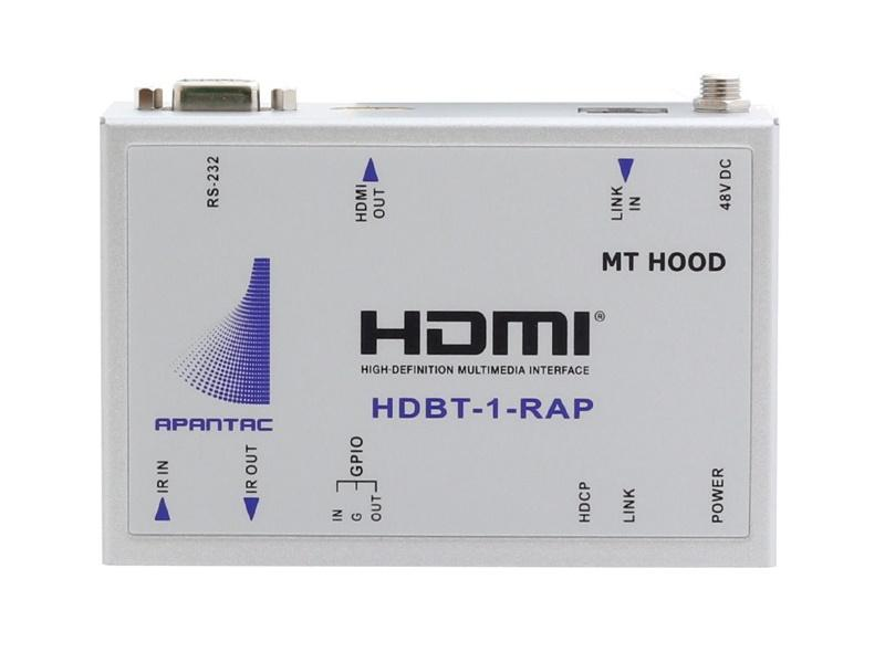 HDBT-1-RAP HDMI Extender (Receiver) over CAT 5e/6 up to 100 meters at 1920x1080p by Apantac