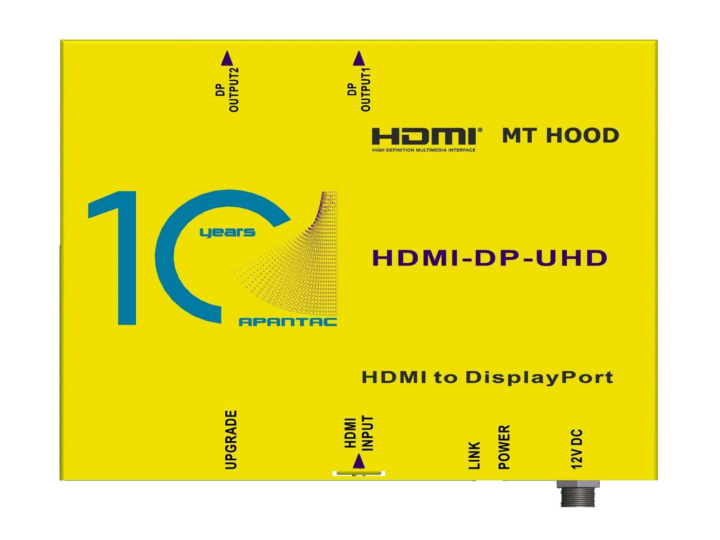 HDM-DP-UHD HDMI 2.0 to DP 1.2 Converter by Apantac
