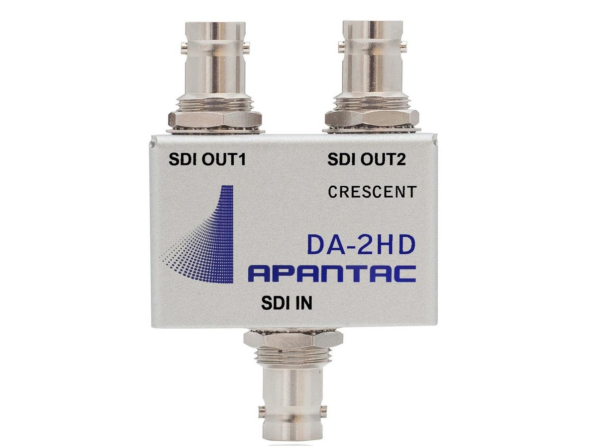 DA-2HD Passive 1x2 Triple-rate SDI/ASI/Composite Distribution Amplifier by Apantac