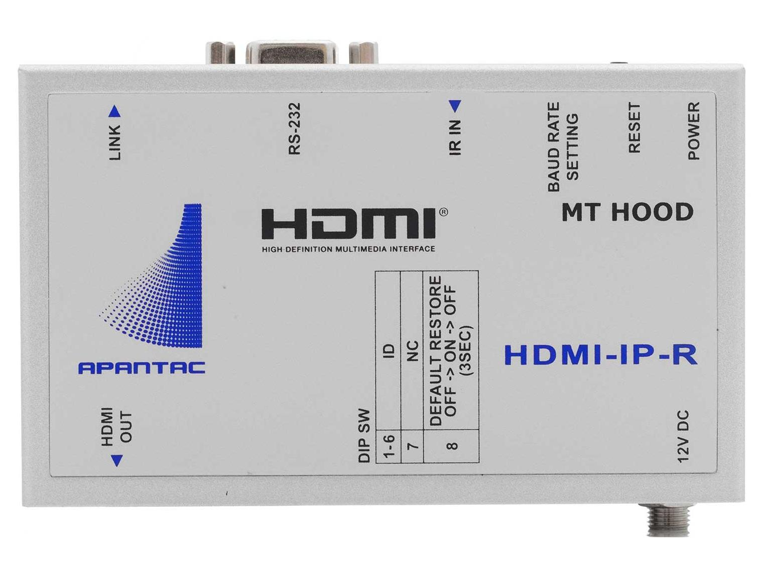 HDMI-IP-R HDMI Extender (Receiver) with RS232/IR over Gigabit Ethernet Network by Apantac