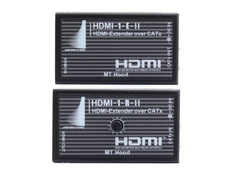 HDMI-SET-8 HDMI-1-E-II and HDMI-1-R-II Extender (Transmitter/Receiver) Kit/150ft by Apantac