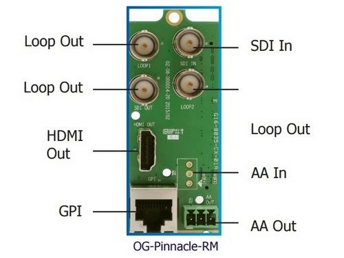 OG-Pinnacle-RM openGear Rear Module for OG-MicroQ-MB by Apantac