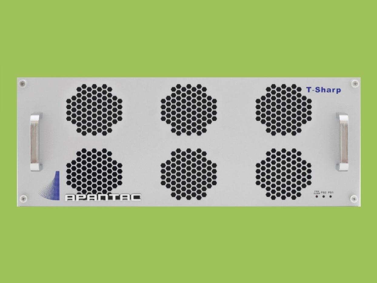 T-40x4-4RU-H 4 RU 40x4 3G/HD/SD-SDI/CVBS I/O Multiviewer w UOM-H-A by Apantac