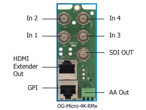 OG-Micro-4K-SET-2 4K to 3G/HD/SD SDI converter w Rear Module by Apantac