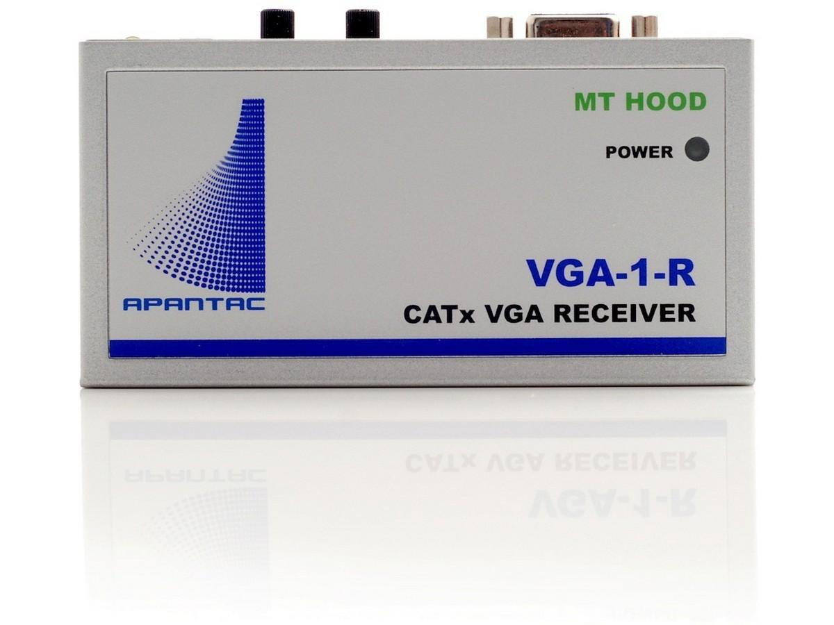 VGA-1-R Single port VGA Extender (Receiver) with Audio up to 1000ft by Apantac
